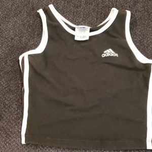 Well worn Adidas crop tank top sports bra